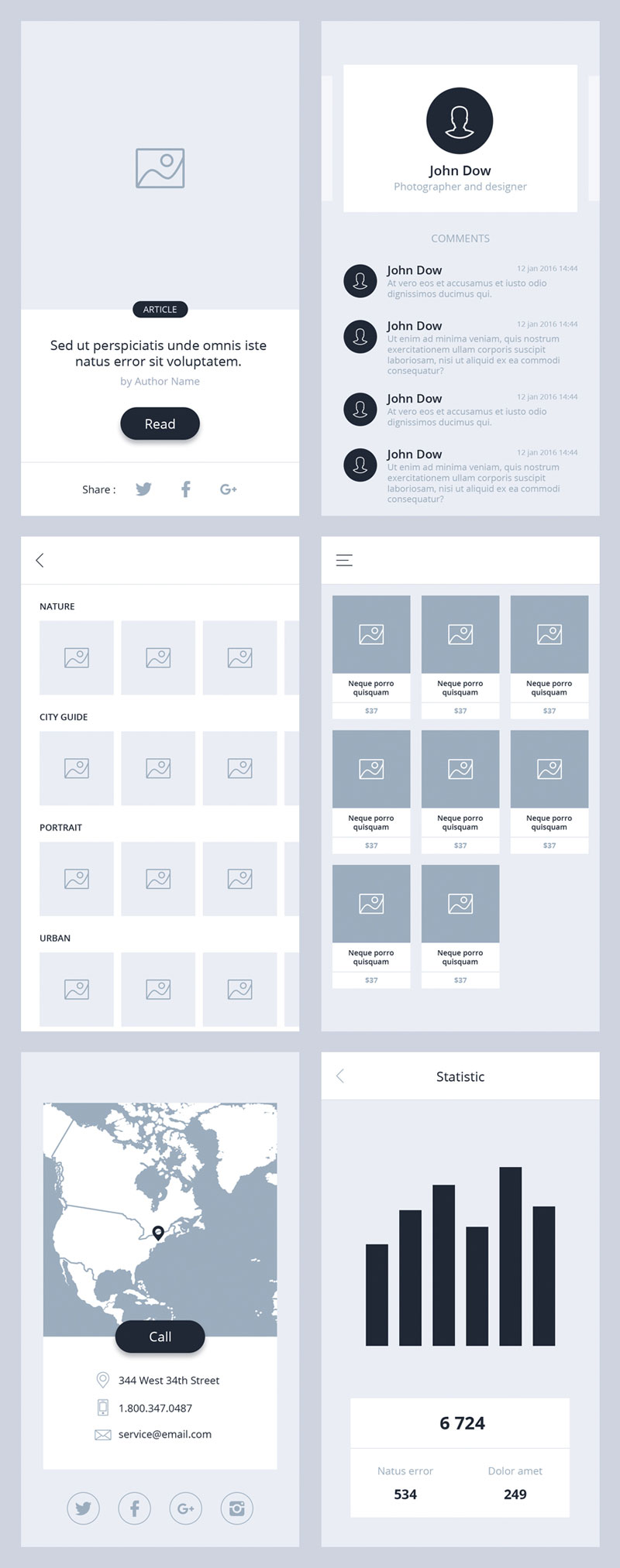 空白app模板,PSD源文件