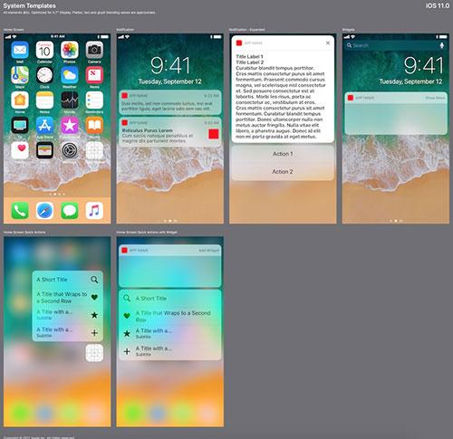 苹果官方 iOS 11 UI设计规范模版,PSD Sketch XD格式免费下载