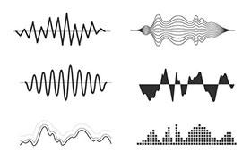 12款音波矢量素材,AI源文件