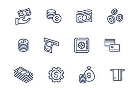 24枚金融相关图标,AI源文件