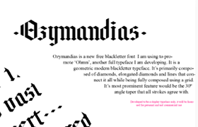 Ozymandias 哥特风格英文字体