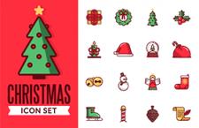 20枚圣诞节图标,AI源文件