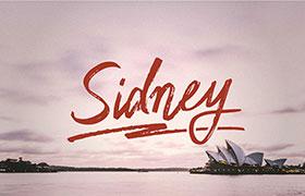 Sidney 手写英文字体