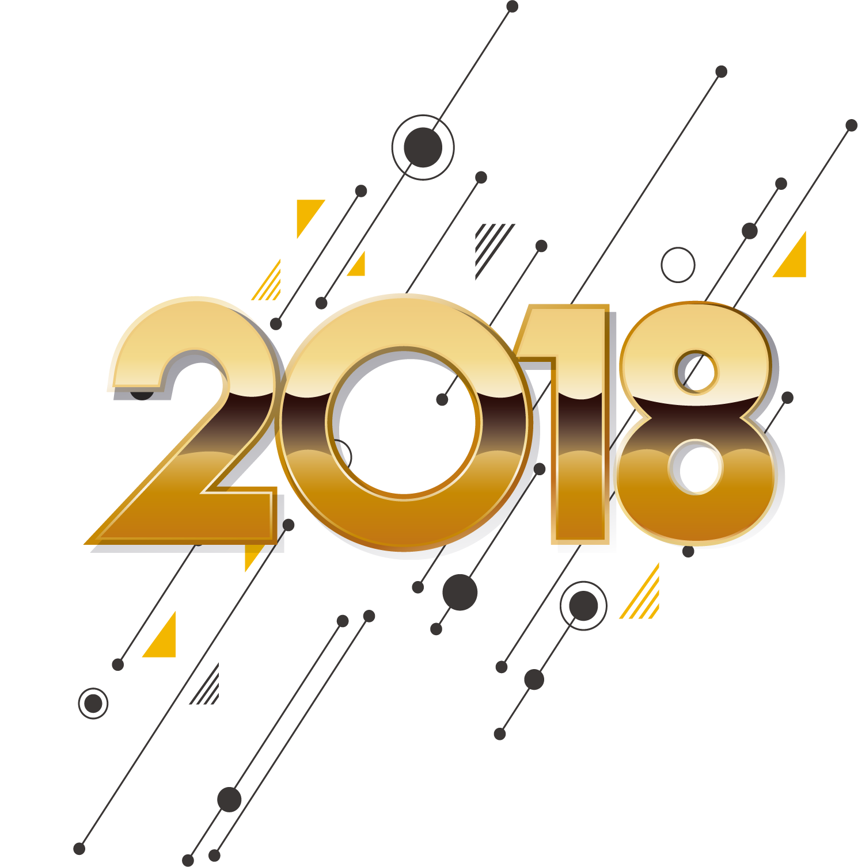 36张2018字体设计,PNG免抠素材
