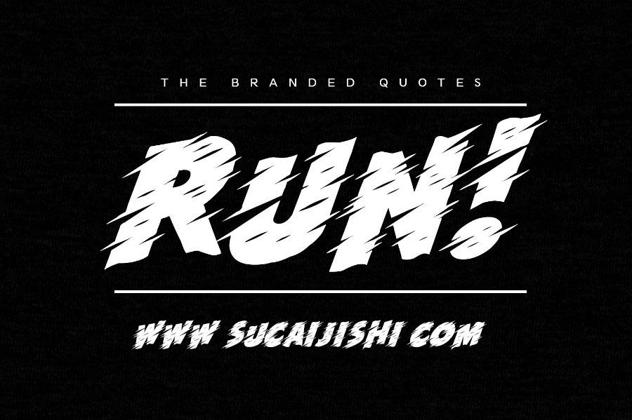 Run英文字体