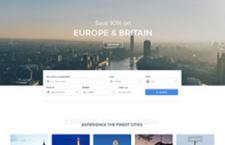 高端旅行社网站PSD模版