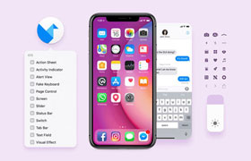 FB团队出品的 iOS11 iPhone GUI 模版,PSD SKETCH源文件