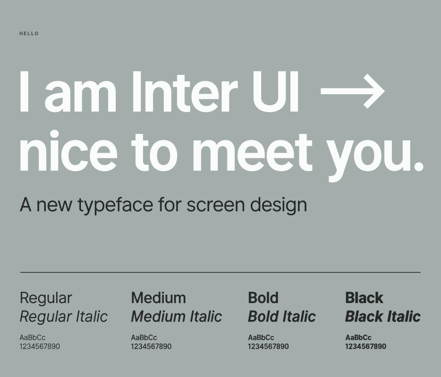 小尺寸也能清晰显示的英文字体:Inter UI