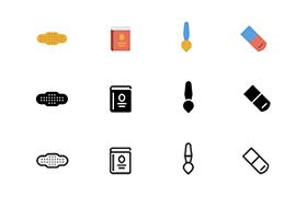 60枚多格式实用矢量图标,AI PSD源文件
