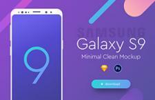 三星 Galaxy S9 手机模型,PSD Sketch 源文件