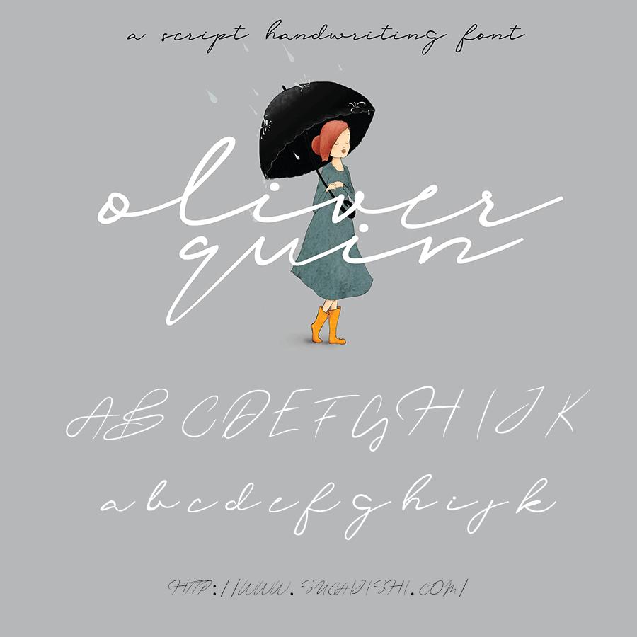 Oliver Quin 手写英文字体