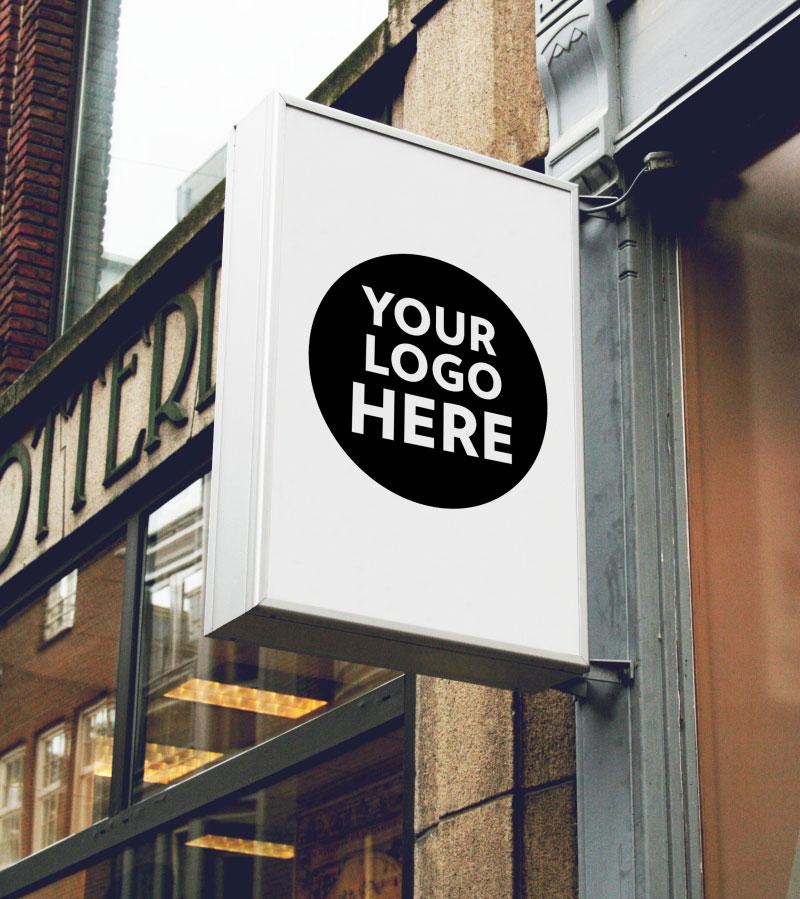 8张店招广告牌演示模板,PSD格式