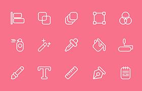 32枚设计工具图标,AI源文件