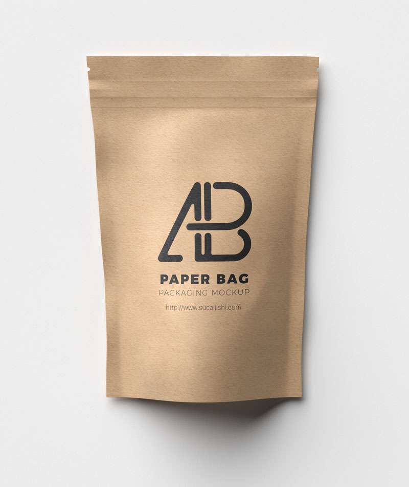 高清牛皮纸袋PSD模版