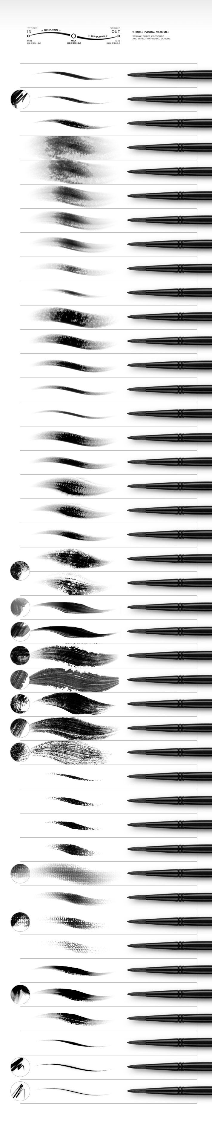 58款仿油画笔触效果,PS笔刷
