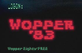 Wopper 83 经典电影英文字体