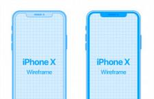 iPhone X 线稿样机,PSD源文件