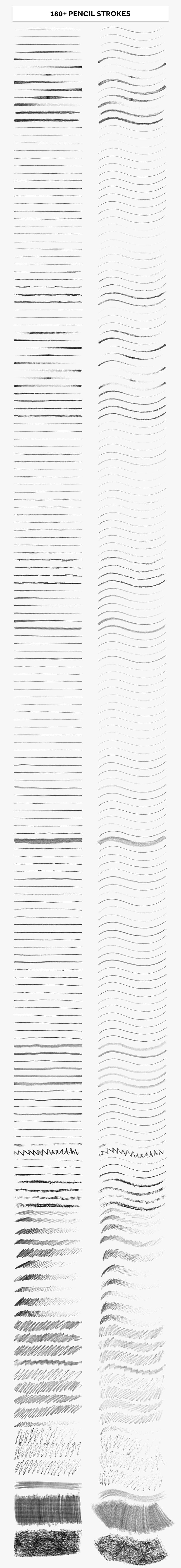 180+铅笔炭笔 AI笔刷