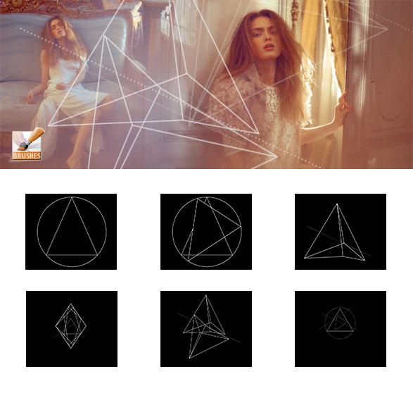 6款个性三角形PS笔刷