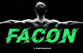 Facon 个性运动英文字体