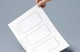 iPhone X 线框图模板 PDF打印文件