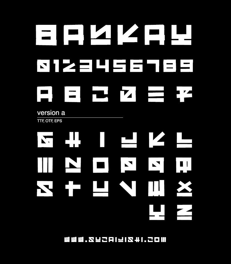 Bankay 日式风格英文字体