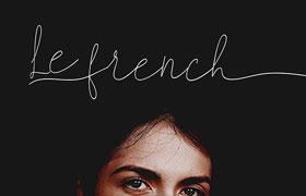 Le French 优雅连笔英文字体