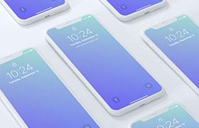 iPhoneX 4K高清等间距手机展示,PSD格式