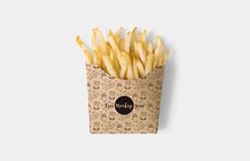 薯条包装VI模板,PSD格式