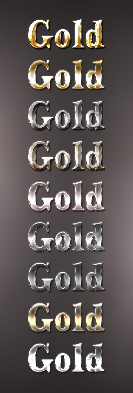8款金属字体效果,PS样式