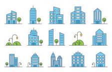 20枚建筑图标,AI源文件