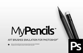 20款炭笔效果,PS绘画笔触