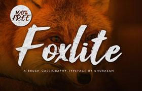 Foxlite 手写英文字体