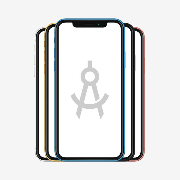 iPhoneXS手机展示模板,PSD源文件