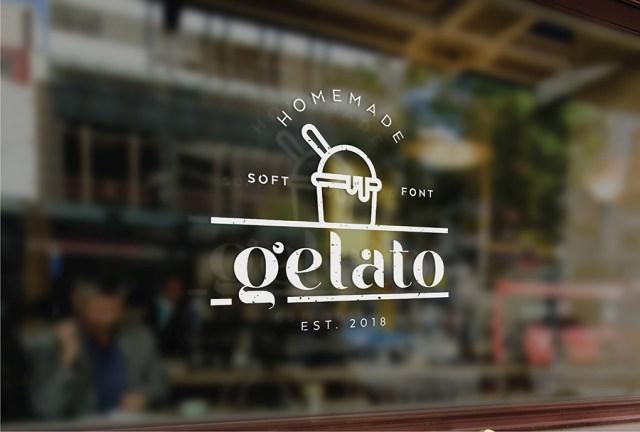 Gelato 甜品店风格英文字体