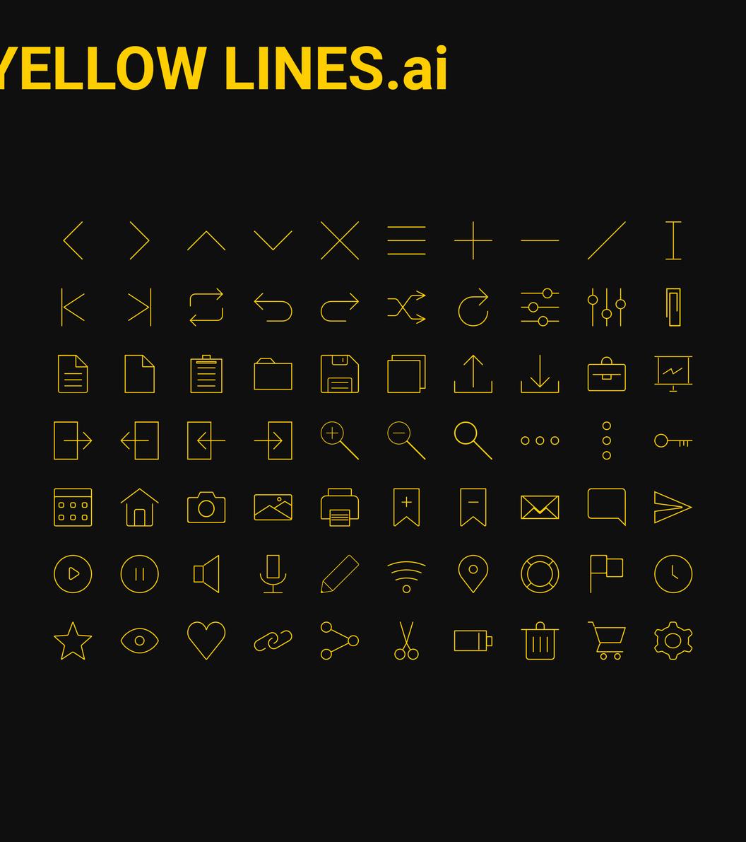 70枚线性图标,AI源文件