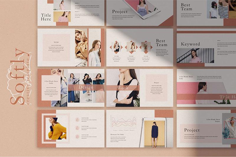 女性时尚搭配 PPT模板