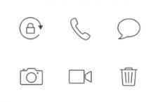 80枚iOS7线条风格图标,矢量PSD分层