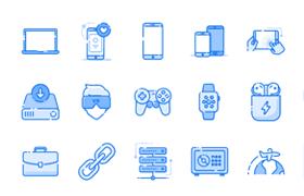 30枚数码设备图标,AI源文件