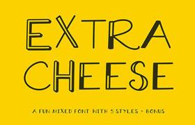 Extra Cheese 奶酪风格字体