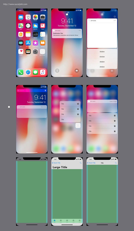 iOS 12 苹果官方UI设计规范模版,PSD Sketch XD格式免费下载