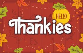 Hello Thankies 感恩节英文字体