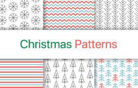 6款圣诞节元素背景图案,AI源文件