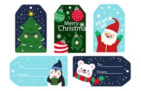 8款圣诞节书签设计素材,AI源文件