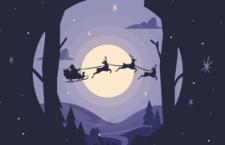 圣诞节扁平化风格插图,AI源文件