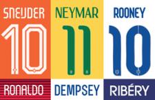 世界杯球衣字体下载