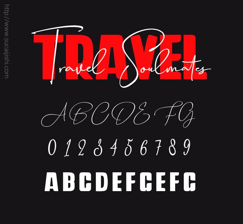 Travel Soulmates 个性英文字体