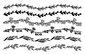 27款麦穗树枝树叶,AI笔刷