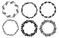 65款手绘矢量花环,AI源文件