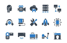 50枚电子设备图标,PNG SVG格式